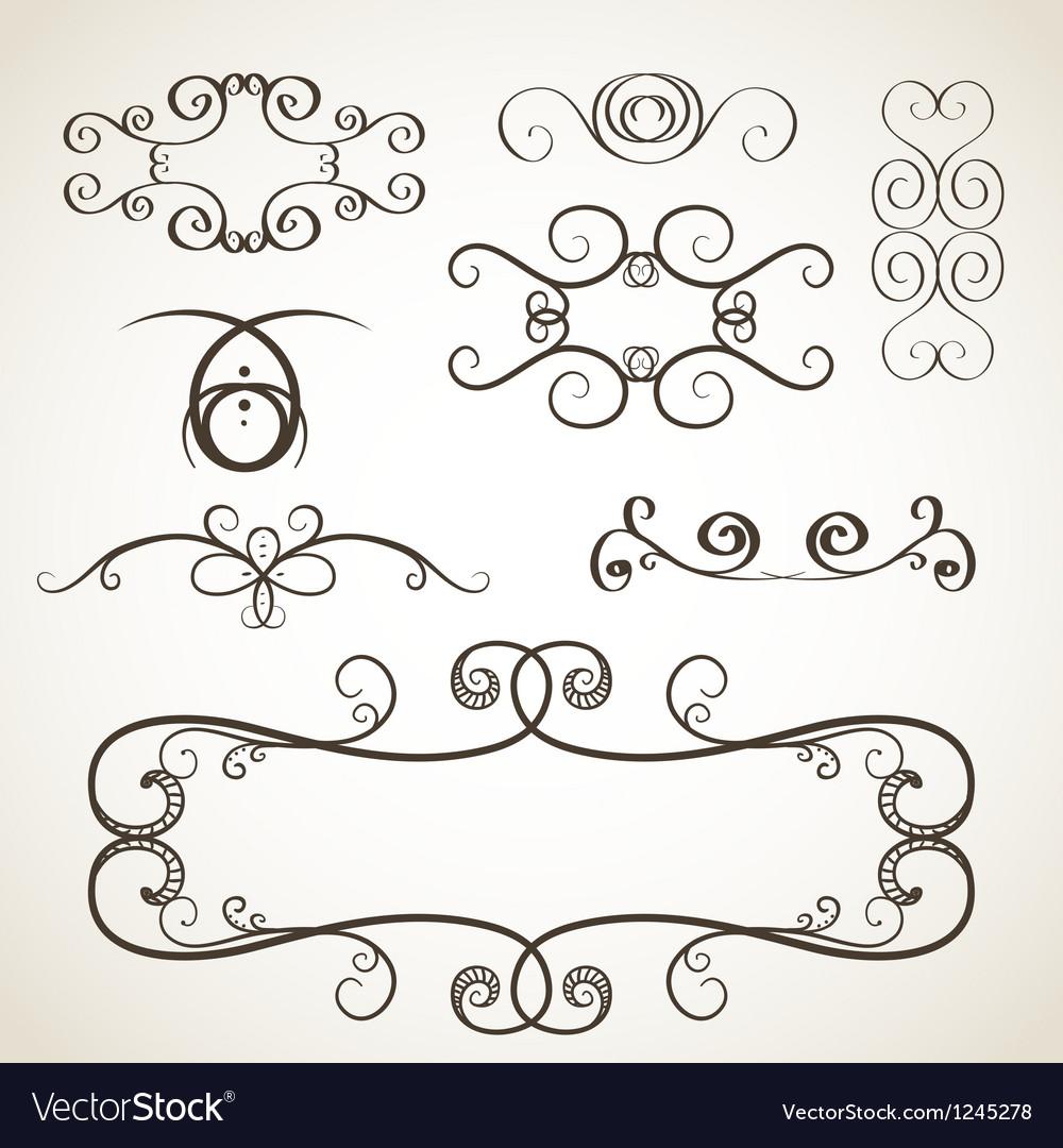 Calligrephic elements vector image