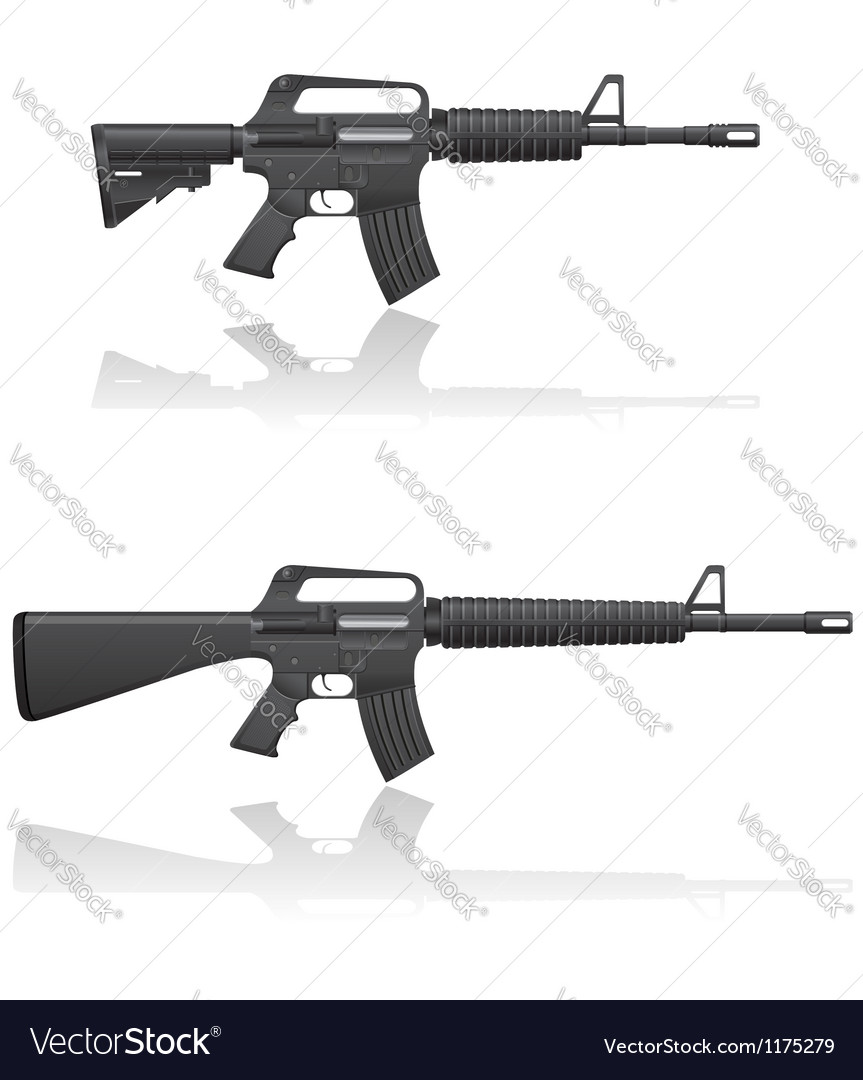 Automatic machine M 16 03 vector image