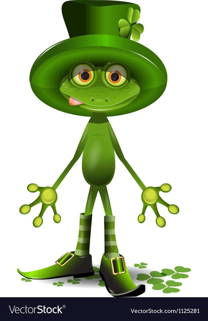 Frog Patrick vector image