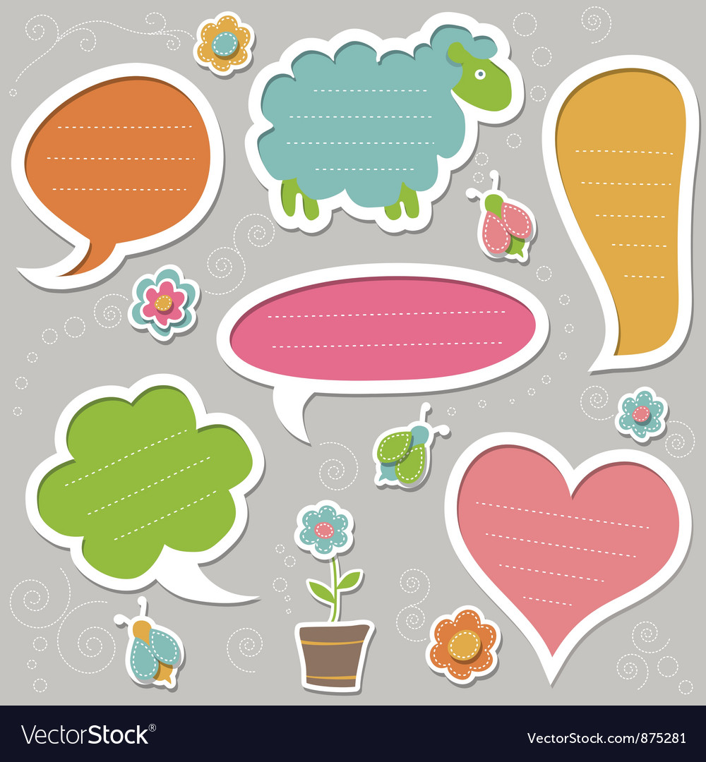 Collection of text frames vector image