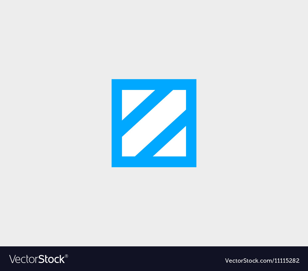 Abstract letter Z shield logo design template Vector Image
