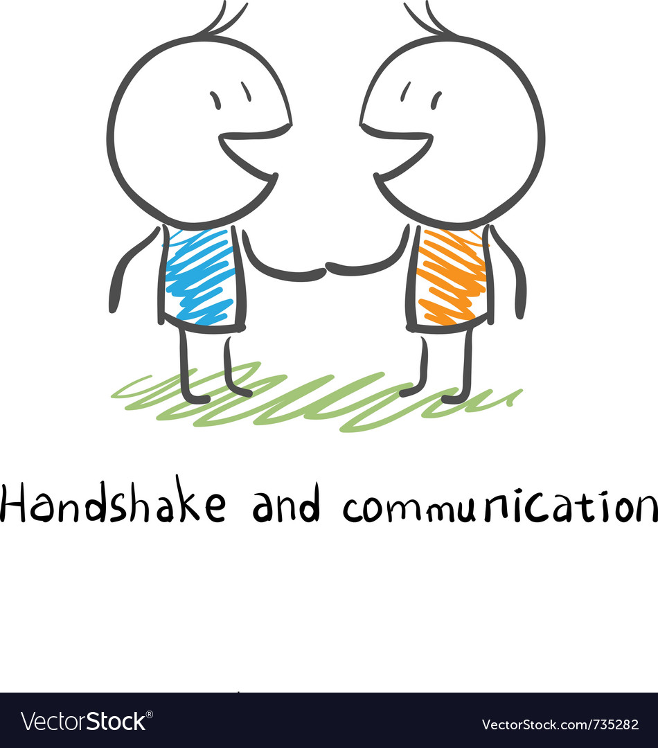 Handshake and communication vector image