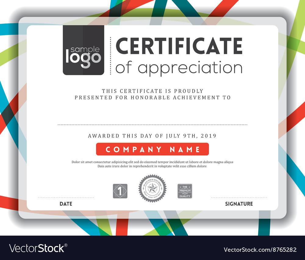 Modern certificate background frame design templat modern certificate background frame design templat vector image yadclub Gallery