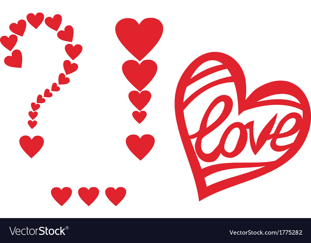 Signs Of Love Heart Valentines Day Design Element Vector Image