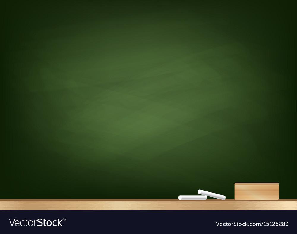 Blackboard background chalk and blackboard eraser vector image