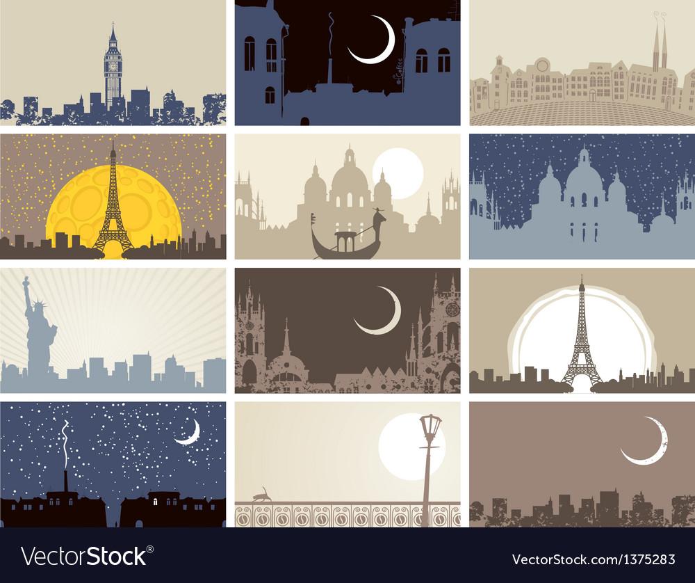 Urban landscapes vector image