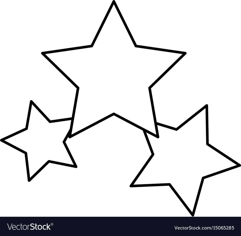 Stars icon favorite business internet trendy vector image