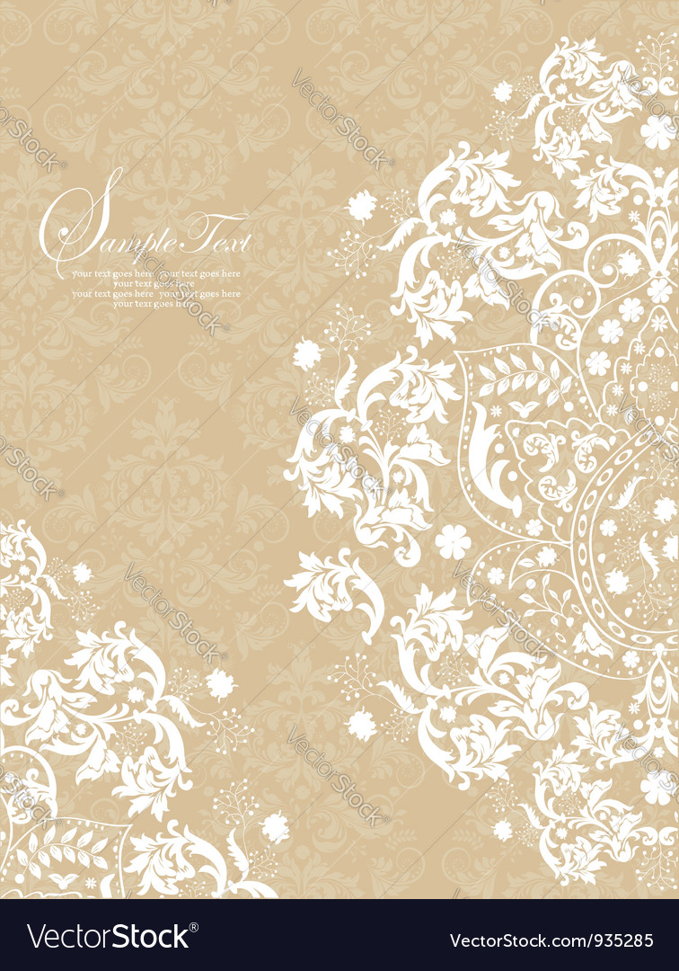 Vintage lace and damask invitation royalty free vector image vintage lace and damask invitation vector image stopboris Image collections