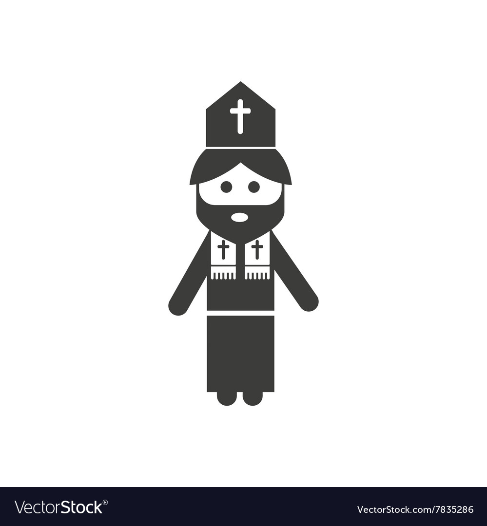 icon man priest in a flat style image on a