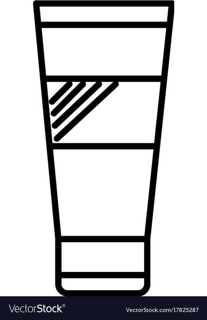 Cream line icon sign on vector image