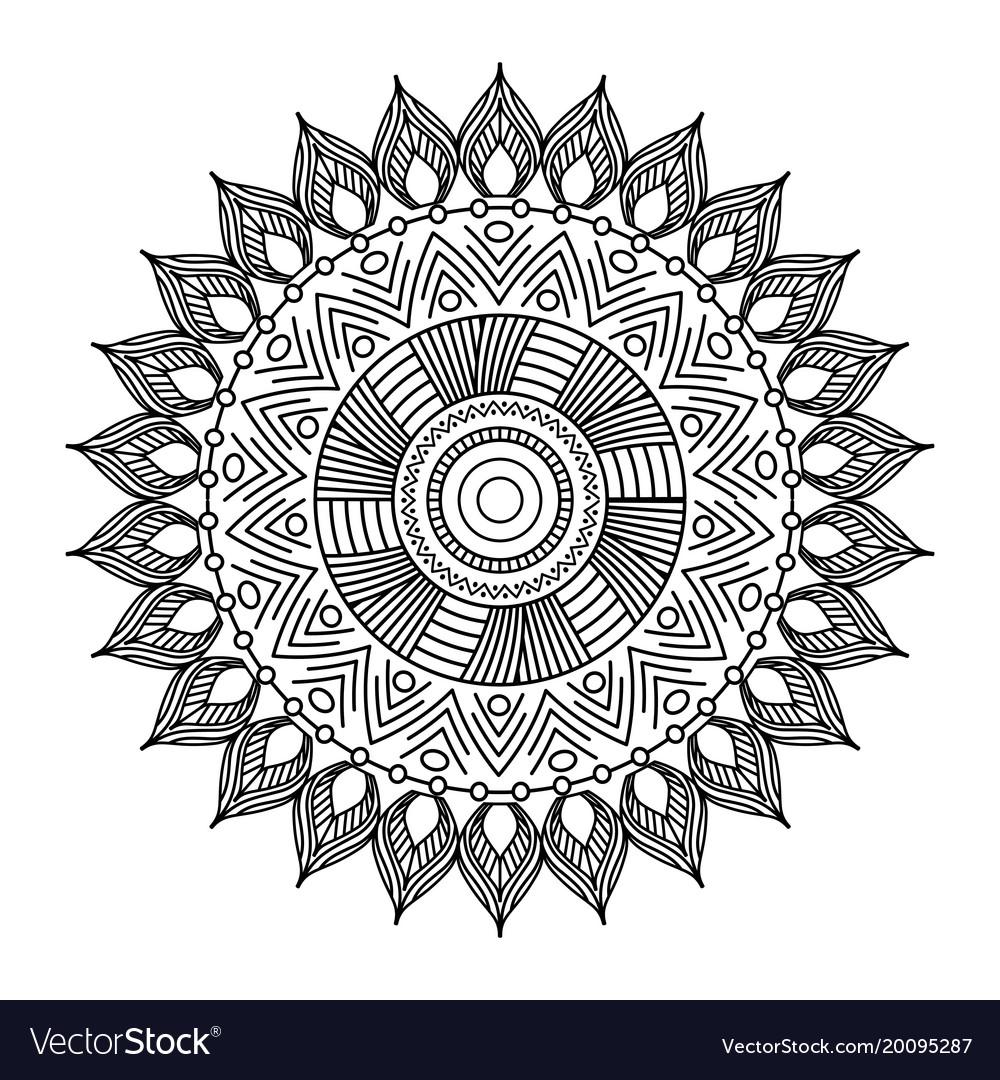 Encantador Mandala Floral Bandera - Ideas Para Colorear ...