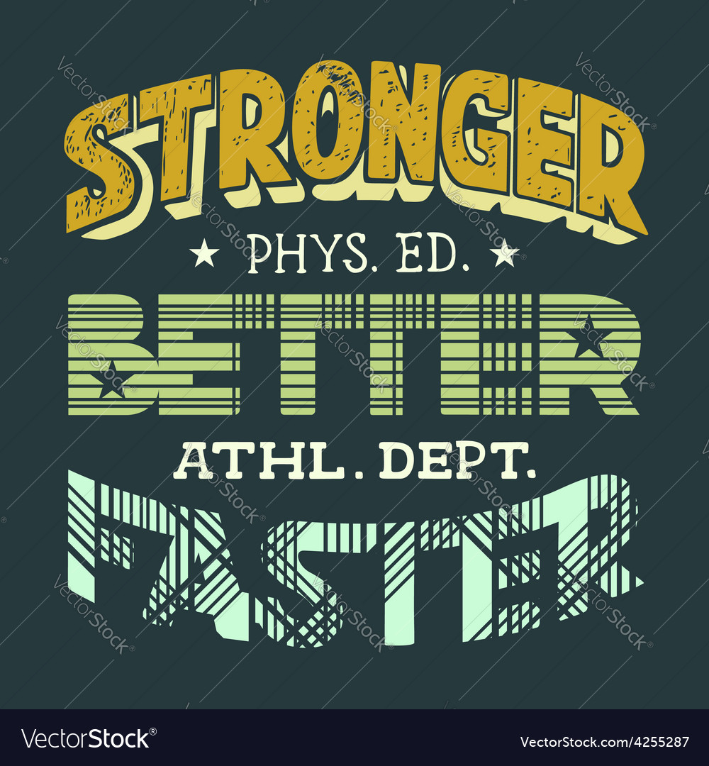 Physical education t-shirt design vector image