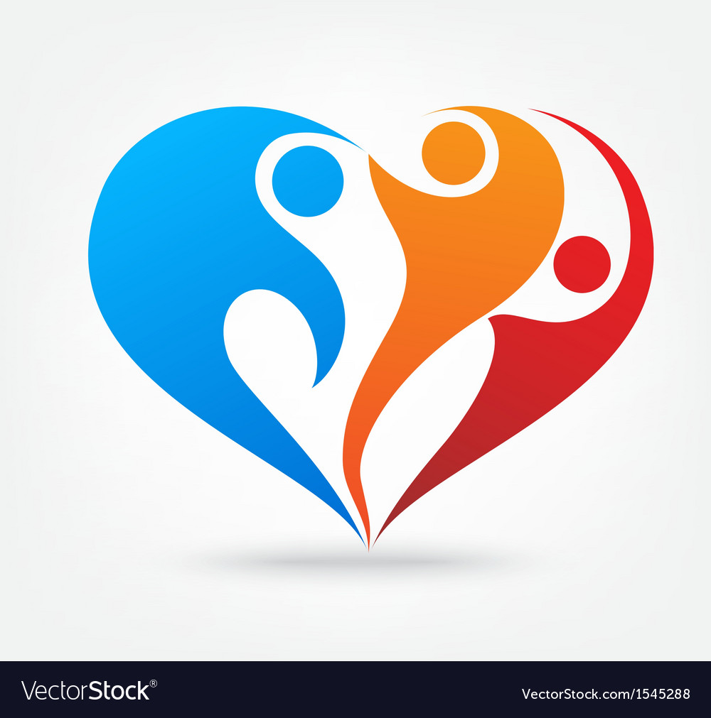 Family love icon Royalty Free Vector Image - VectorStock