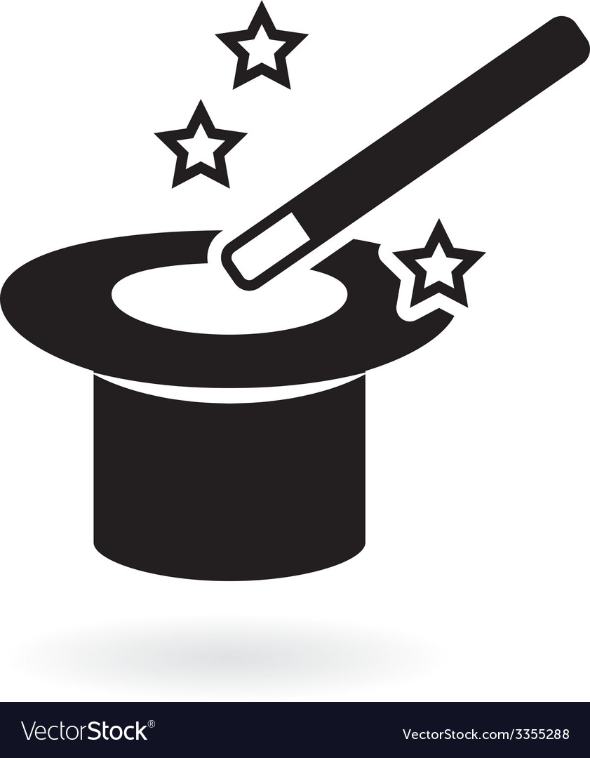 Magic wand with hat vector image