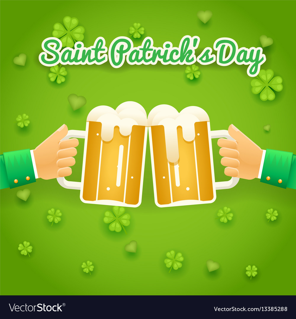 Saint patrick day celebration success and vector image