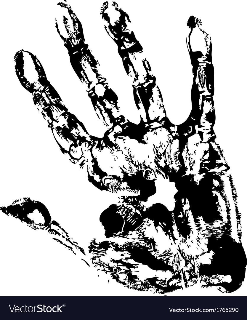 Black Print of hand vector image