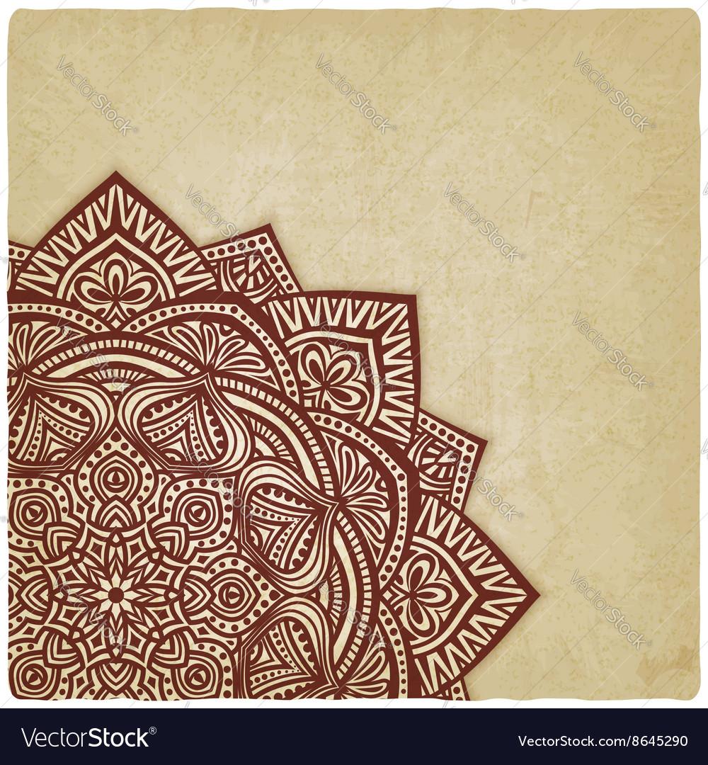 Corner floral pattern old background vector image