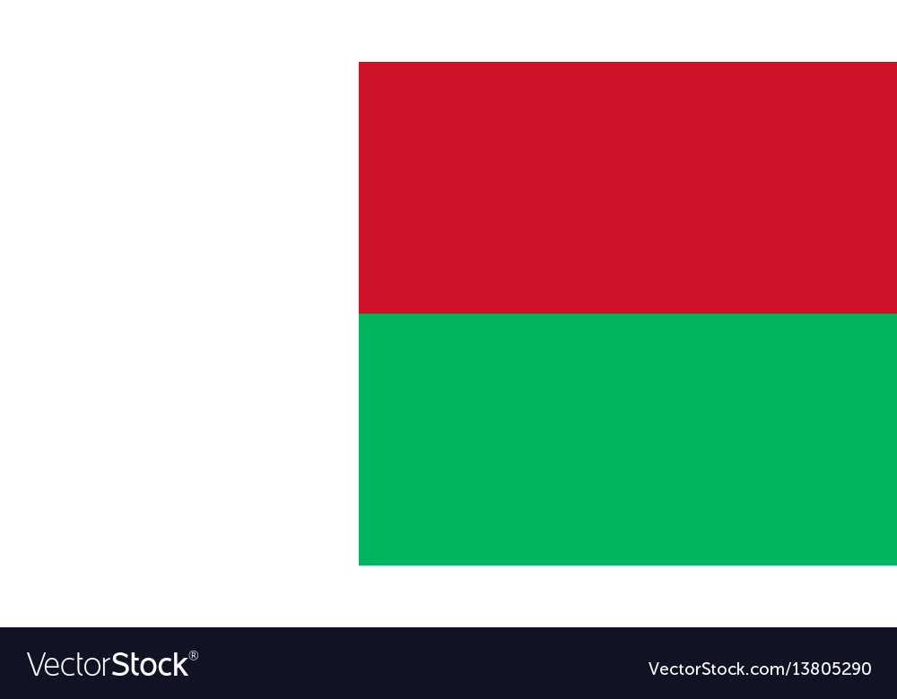 Madagascar Flag For Independence Day And Vector Image - Madagascar flag
