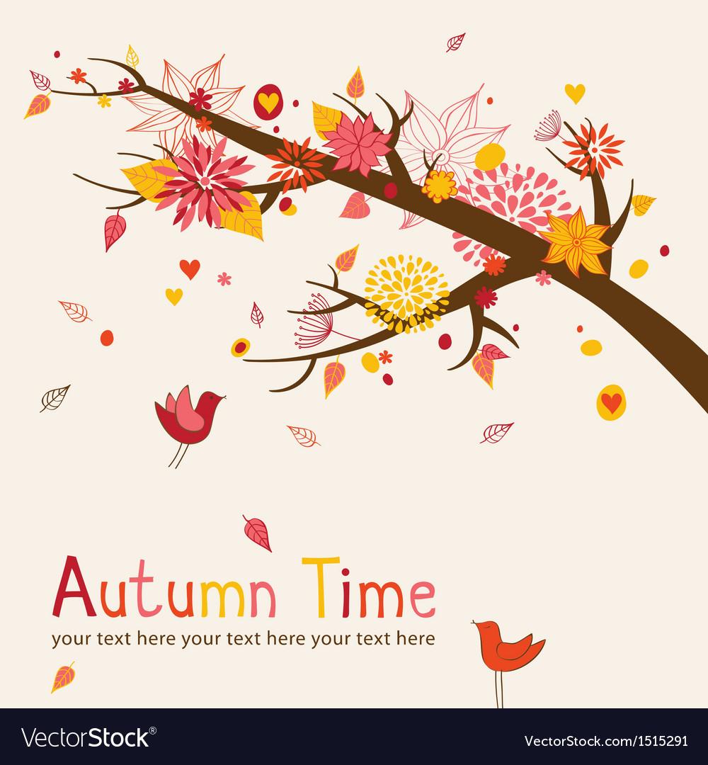 Autumn branch vector image