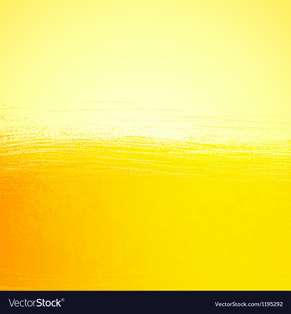 Abstract bright painted orange sunny background Vector Image
