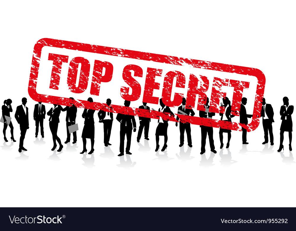 Business people secret Vector Image