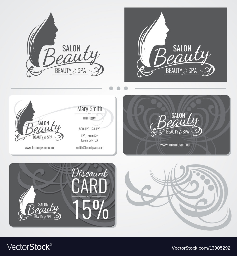 Beauty salon business card templates with vector image cheaphphosting