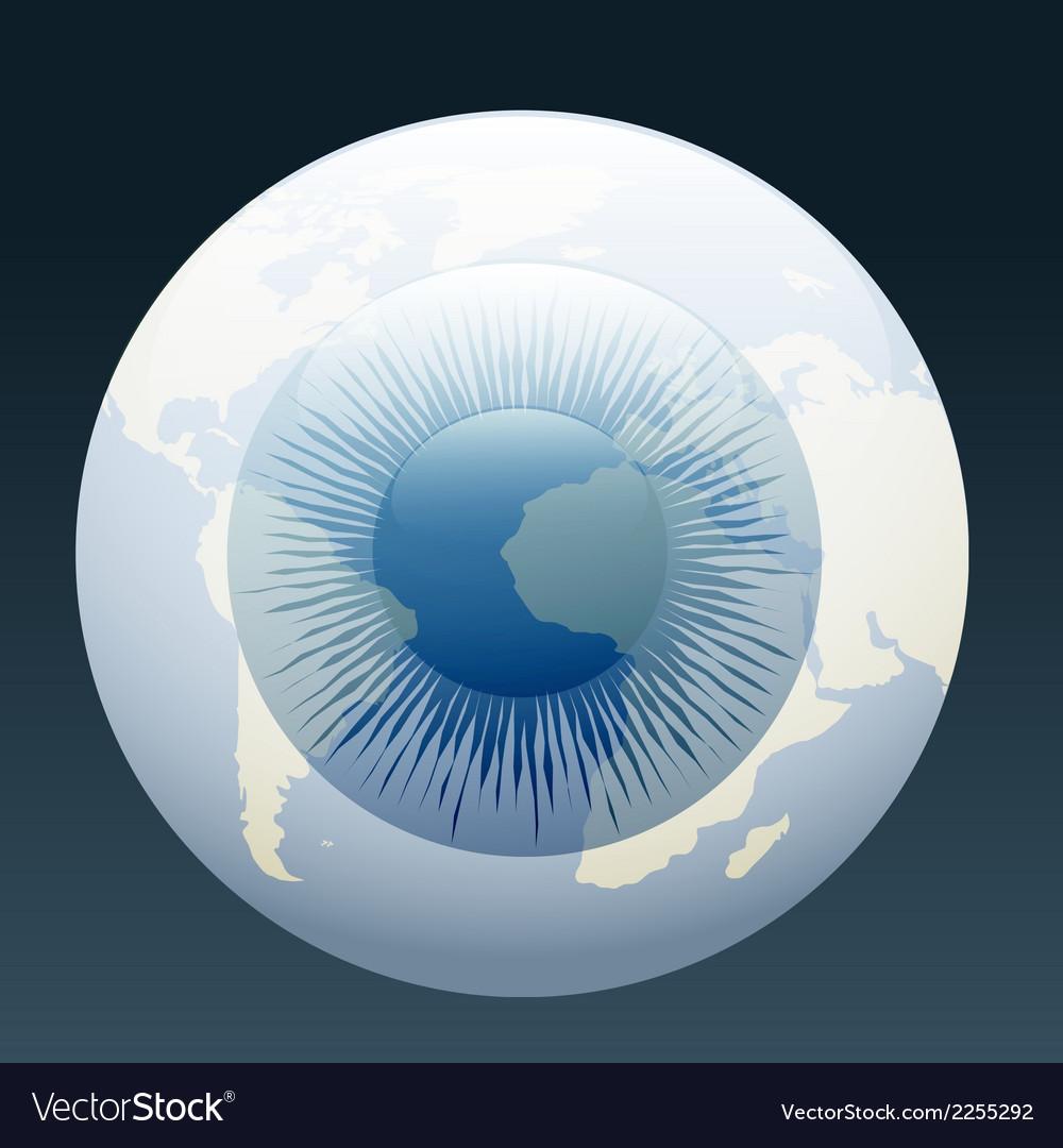 Eyeball globe vector image