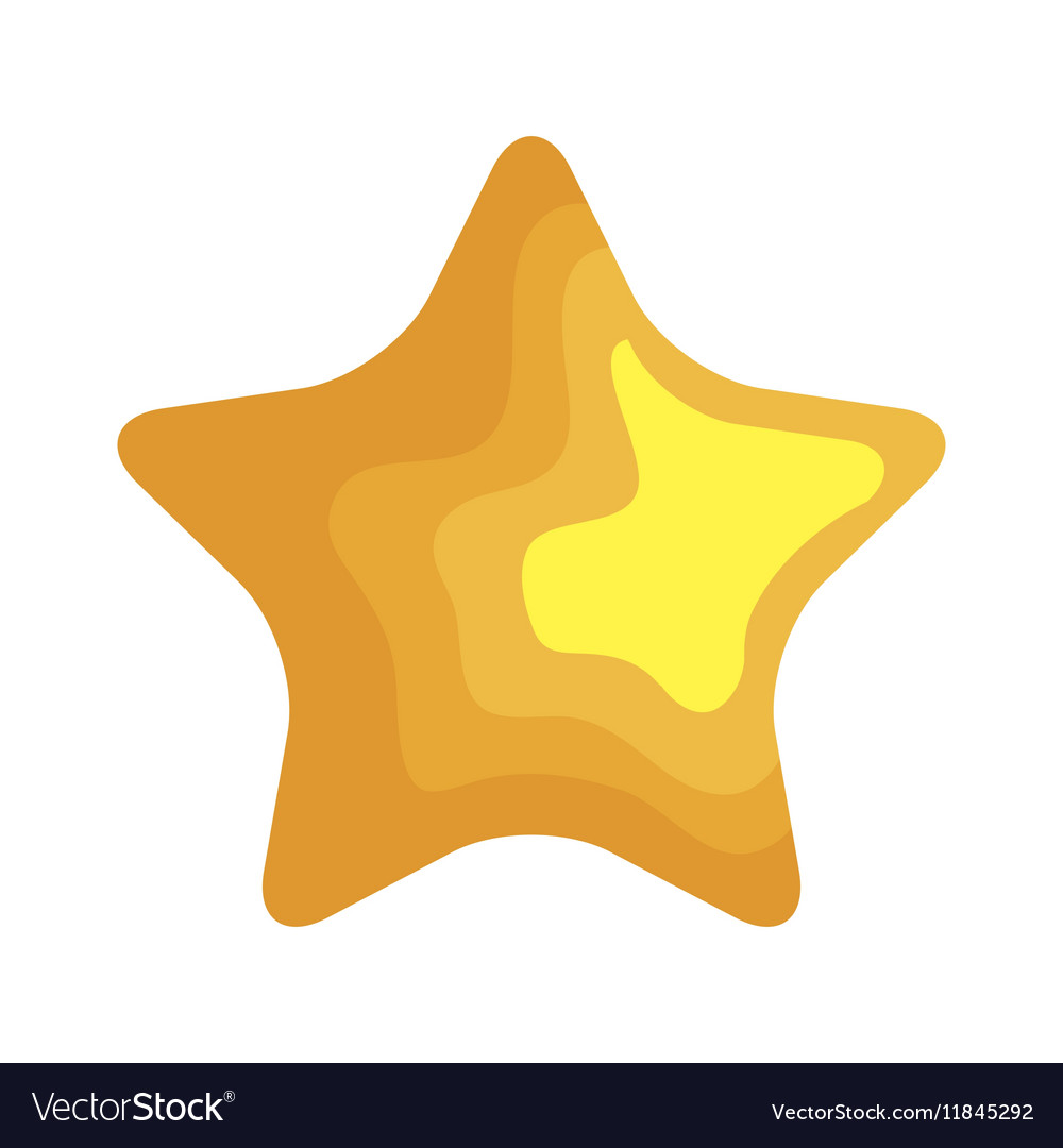 Star christmas decoration isolated icon vector image
