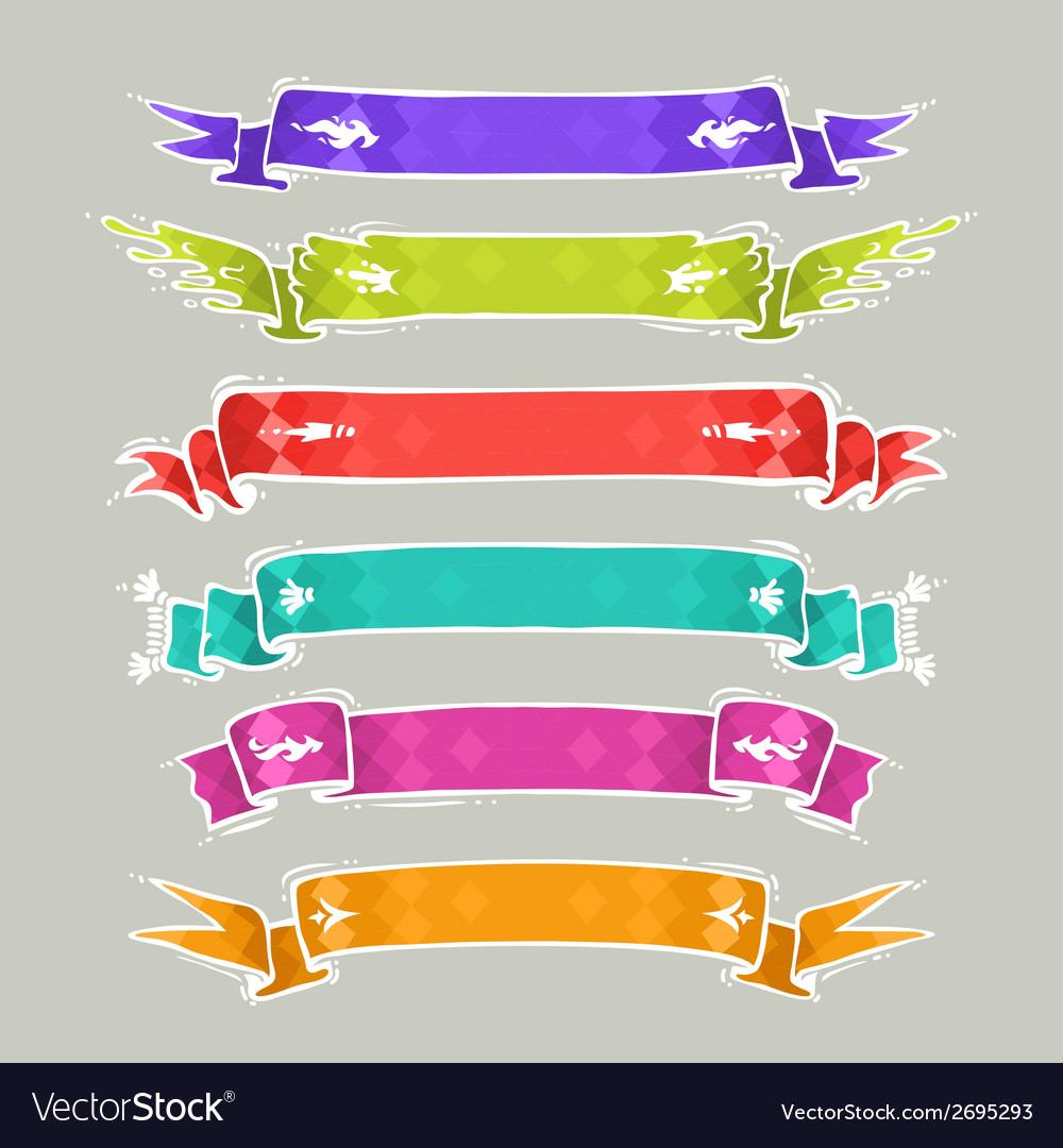 Cartoon Ribbons Set2 vector image