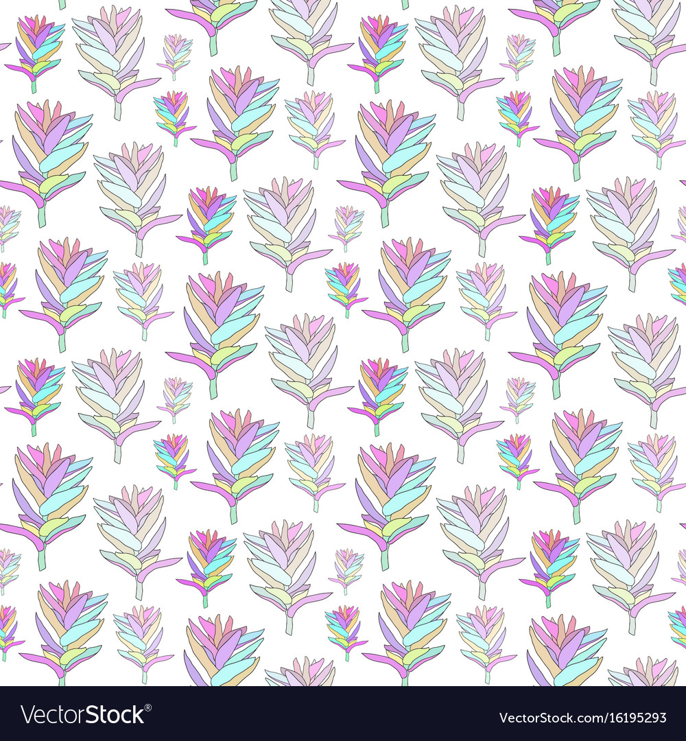 Seamless floral pattern with fantasy blooming vector image