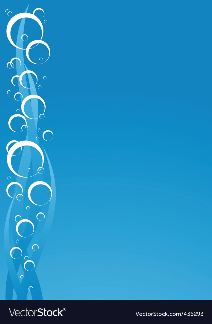 Water with bubbles vector image
