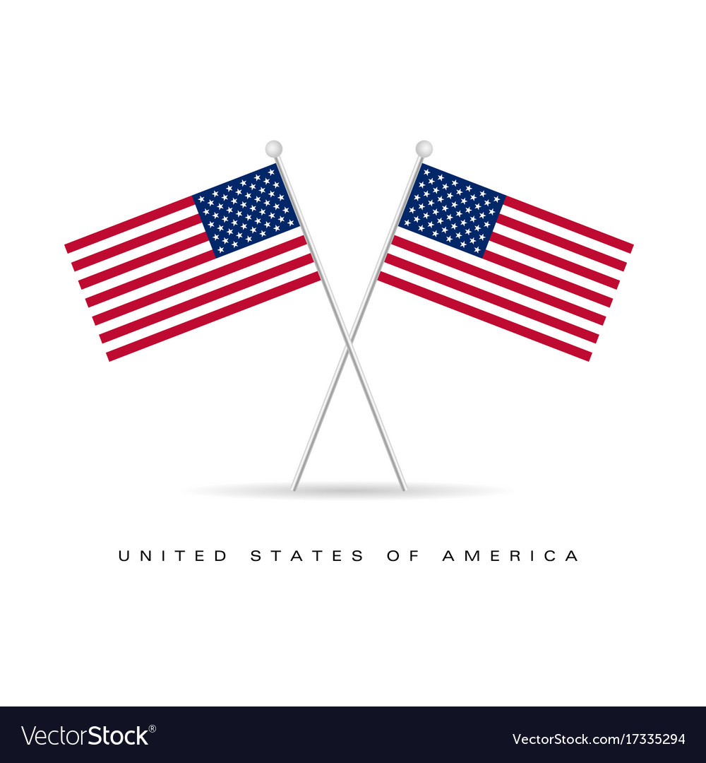 American flag icon color Royalty Free Vector Image