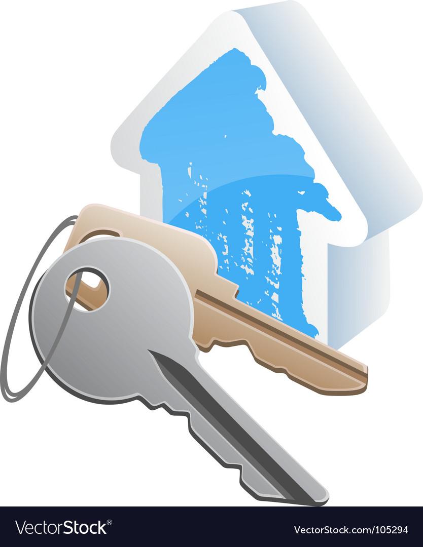 Keys cottege vector image