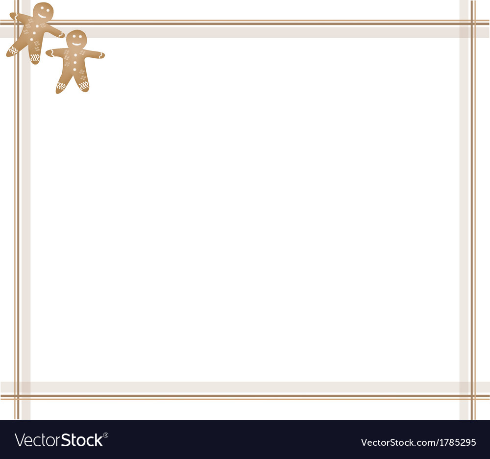Traditional Christmas Gingerbread Man Background vector image