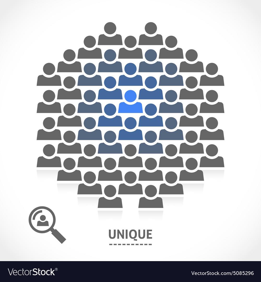 Concept of unique motivation person vector image
