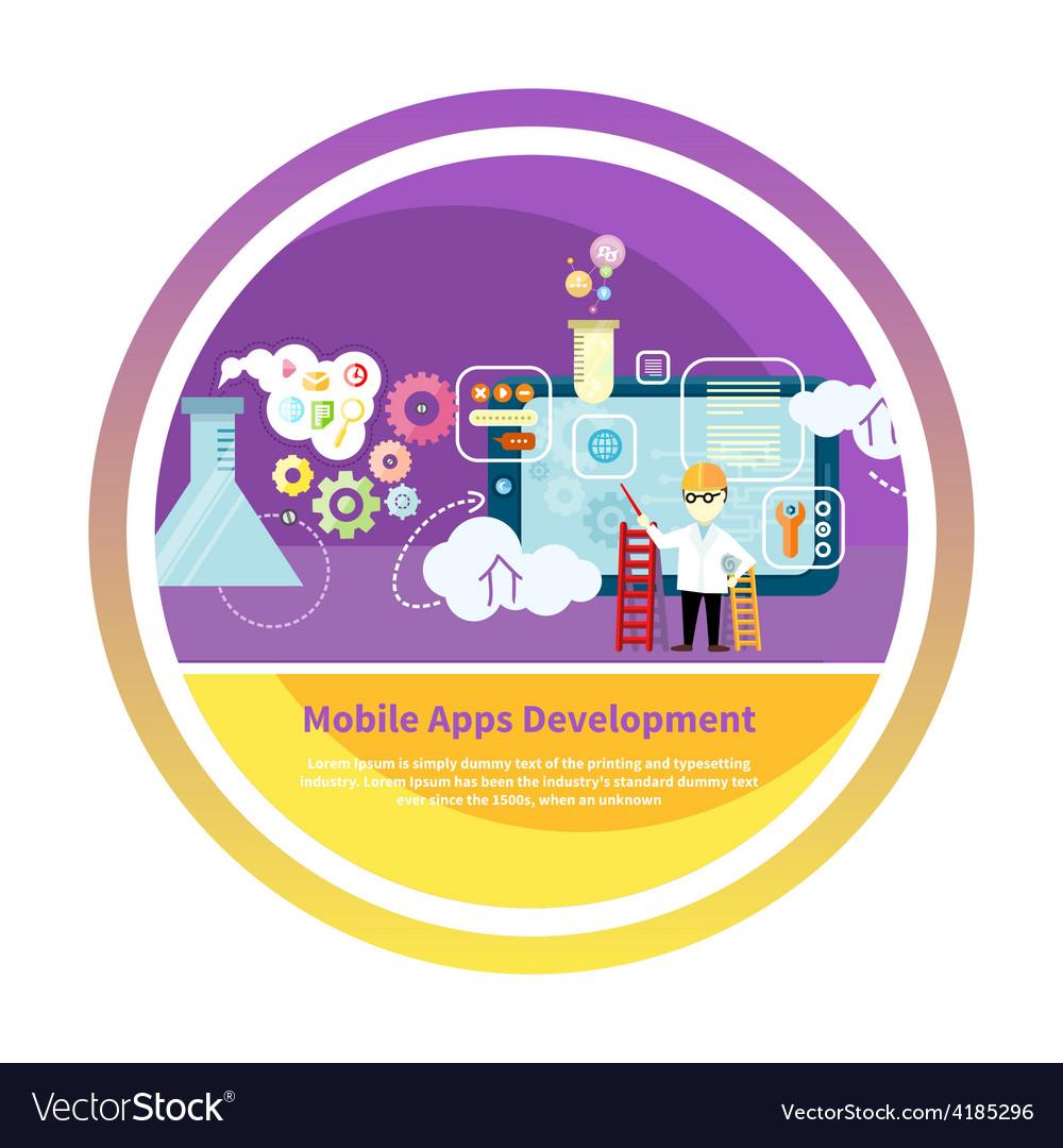 Development mobile apps vector image