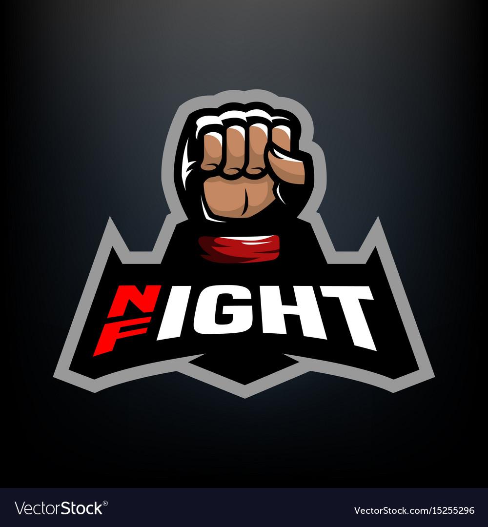 Night fight logo vector image