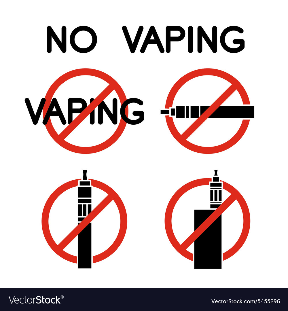 No vape icons vector image