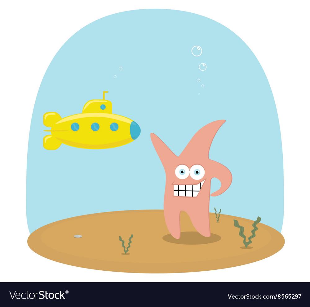 Cartoon scene of underwater ocean with royalty free vector cartoon scene of underwater ocean with vector image voltagebd Gallery