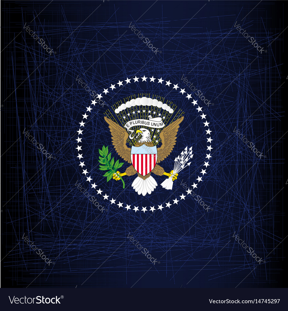 President seal eagle vector image