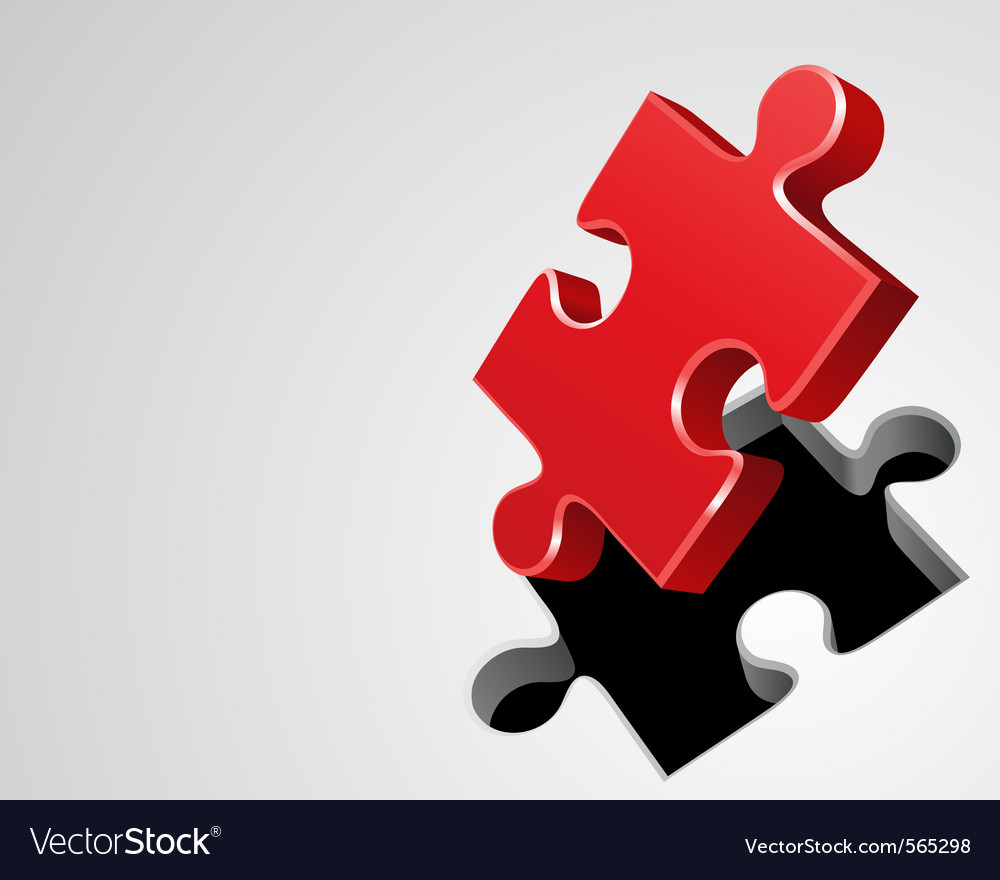 Puzzle perspective background vector image