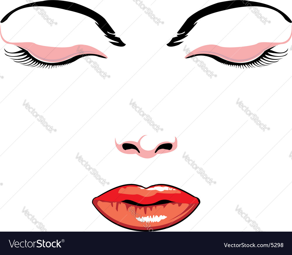 Simple face vector image