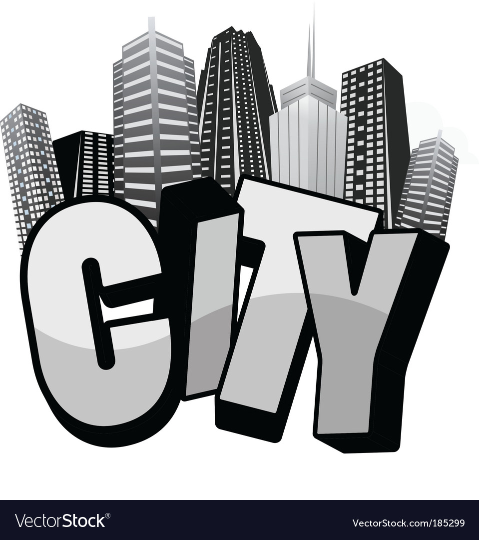 City text vector image