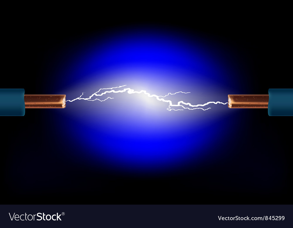 Electric cable vector image