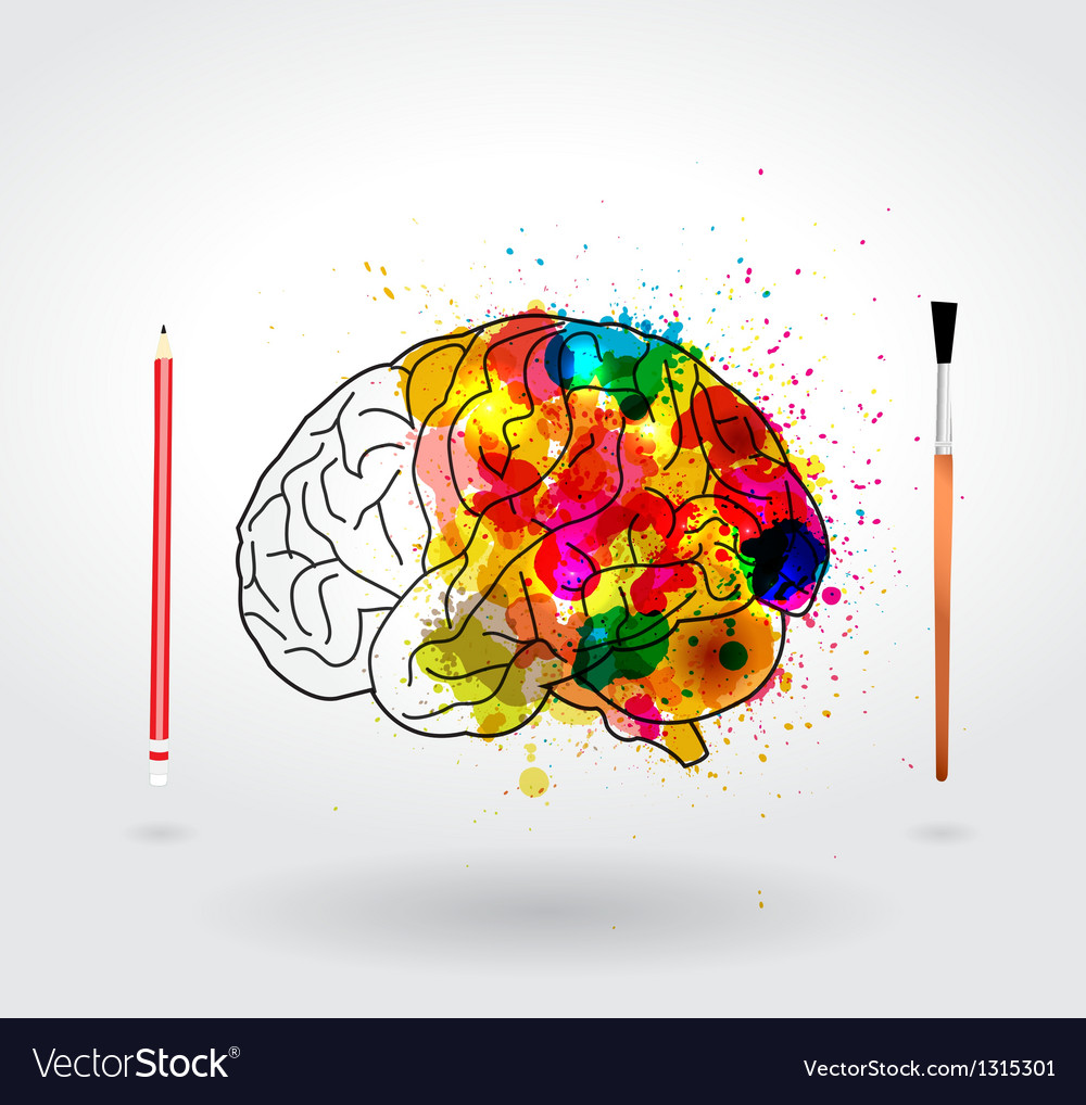 Creativity brain vector image