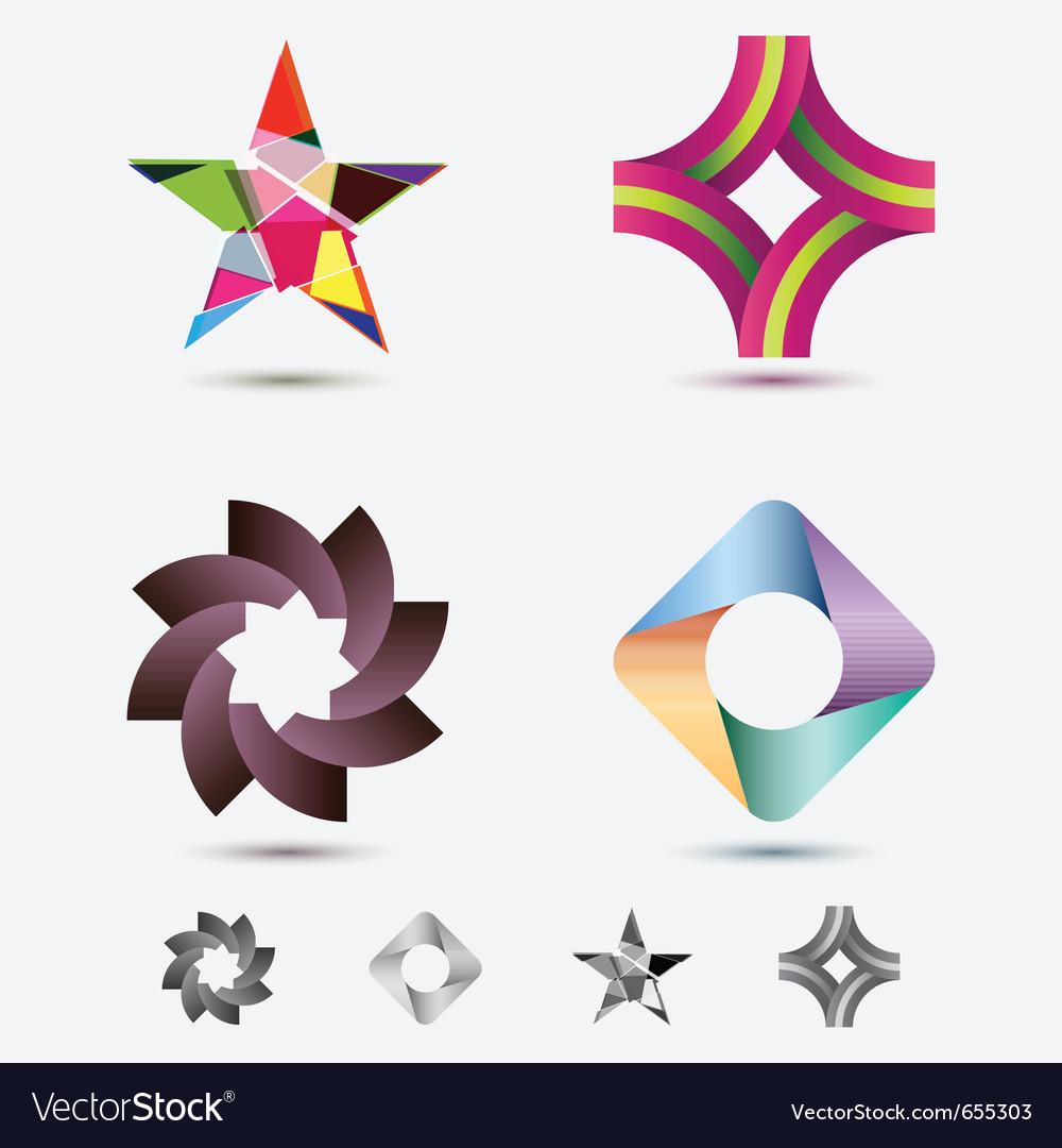 Modern icon or logo set vector image