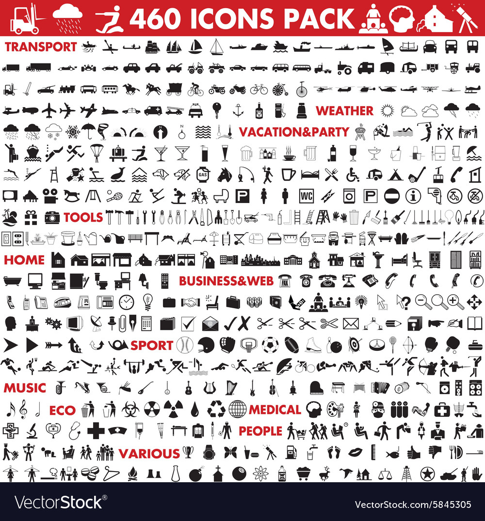 Icons megapack vector image