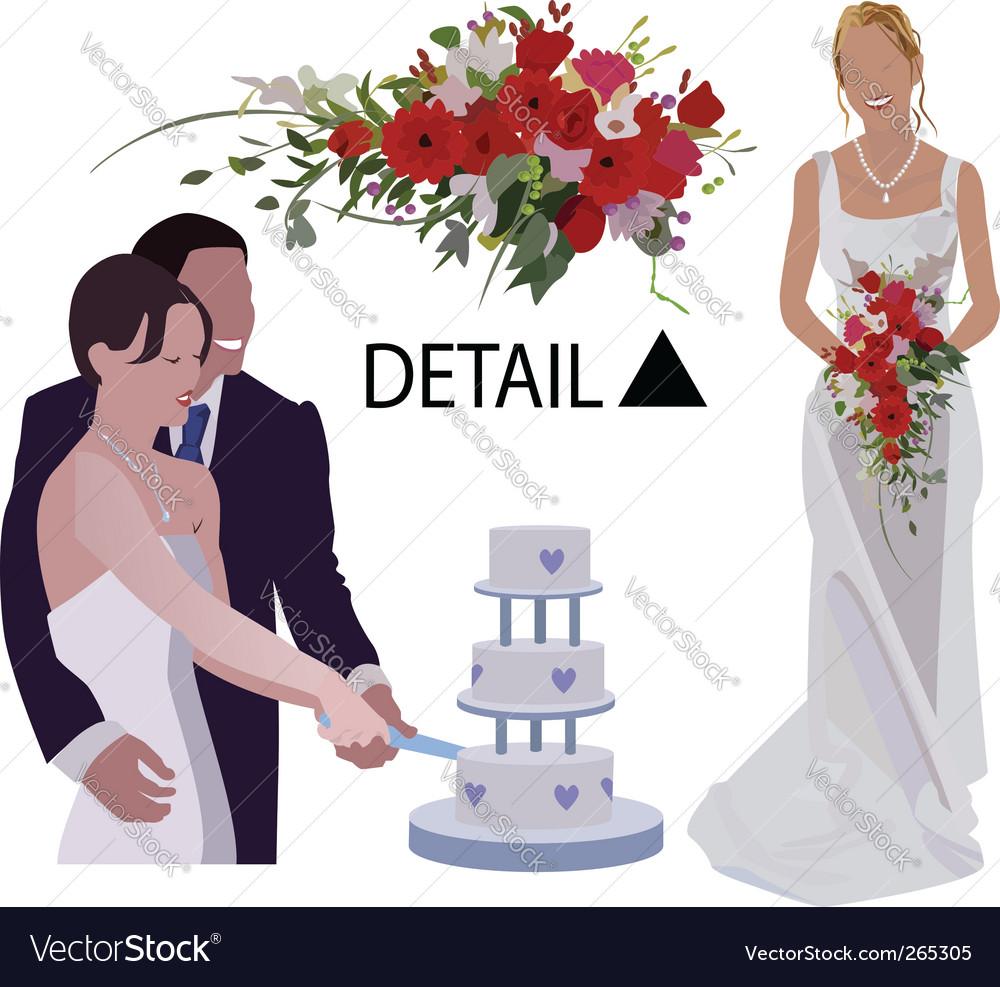 Wedding graphics vector image