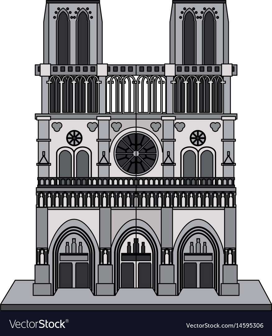 Color image cartoon building architecture antique vector image