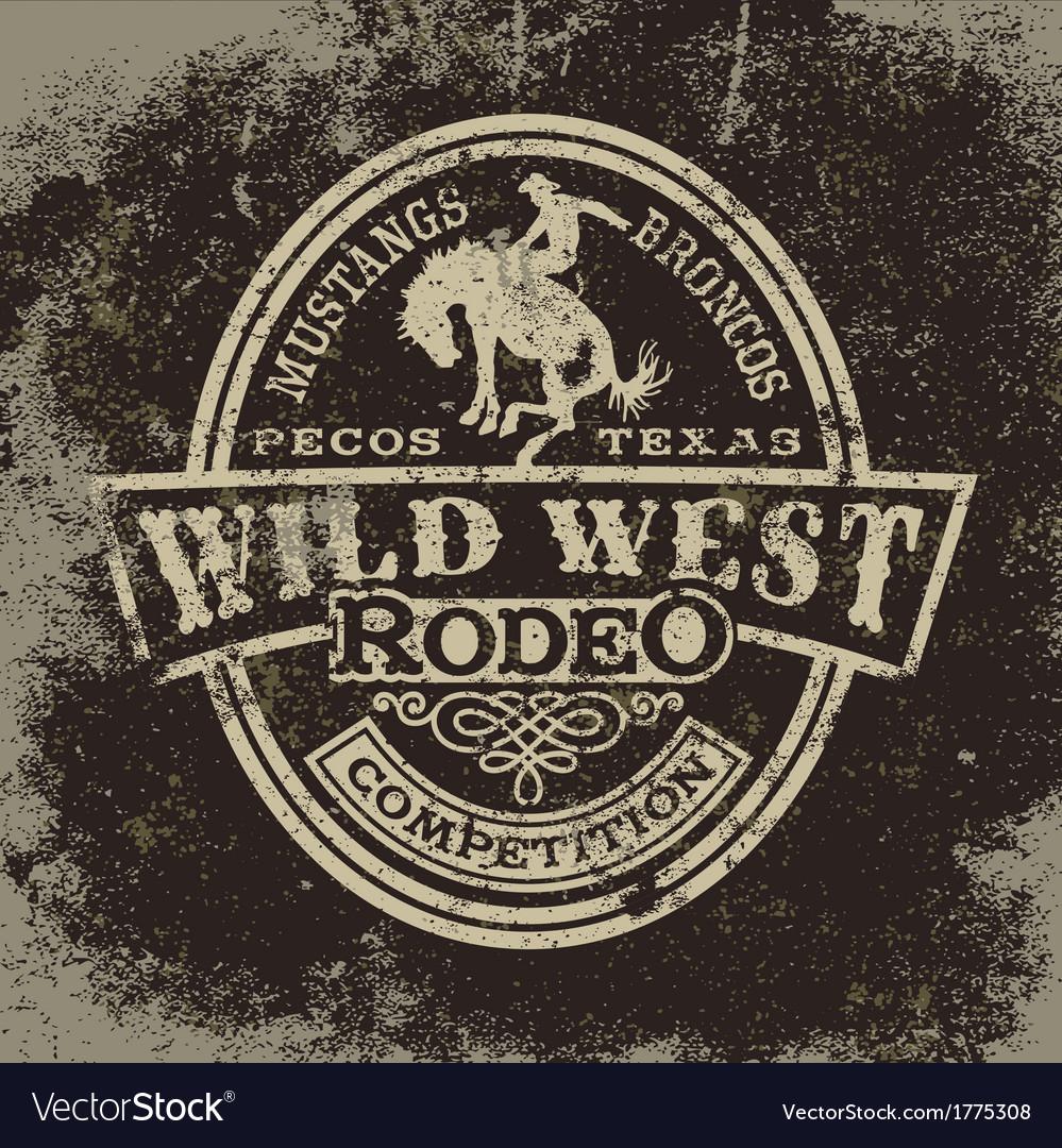 Wild west rodeo Vector Image